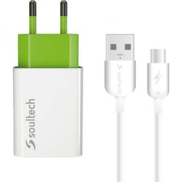 Soultech 2.1 Ev Şarj Adaptörü Ve Type C Data Şarj Kablosu