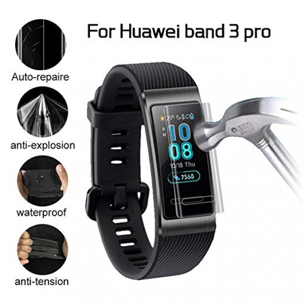 Casefree Huawei Band 3 Pro Gps Koruyucu Band -Tempered Glass