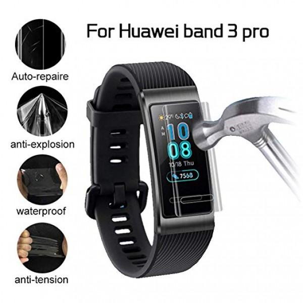 Casefree Huawei Band 3 Pro Gps Koruyucu Band -Tempered Glass