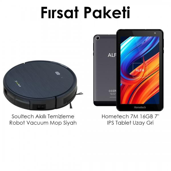 Soultech Akıllı Vacuum Mop Robot & Hometech 7M 16GB IPS Tablet Fırsat Paketi